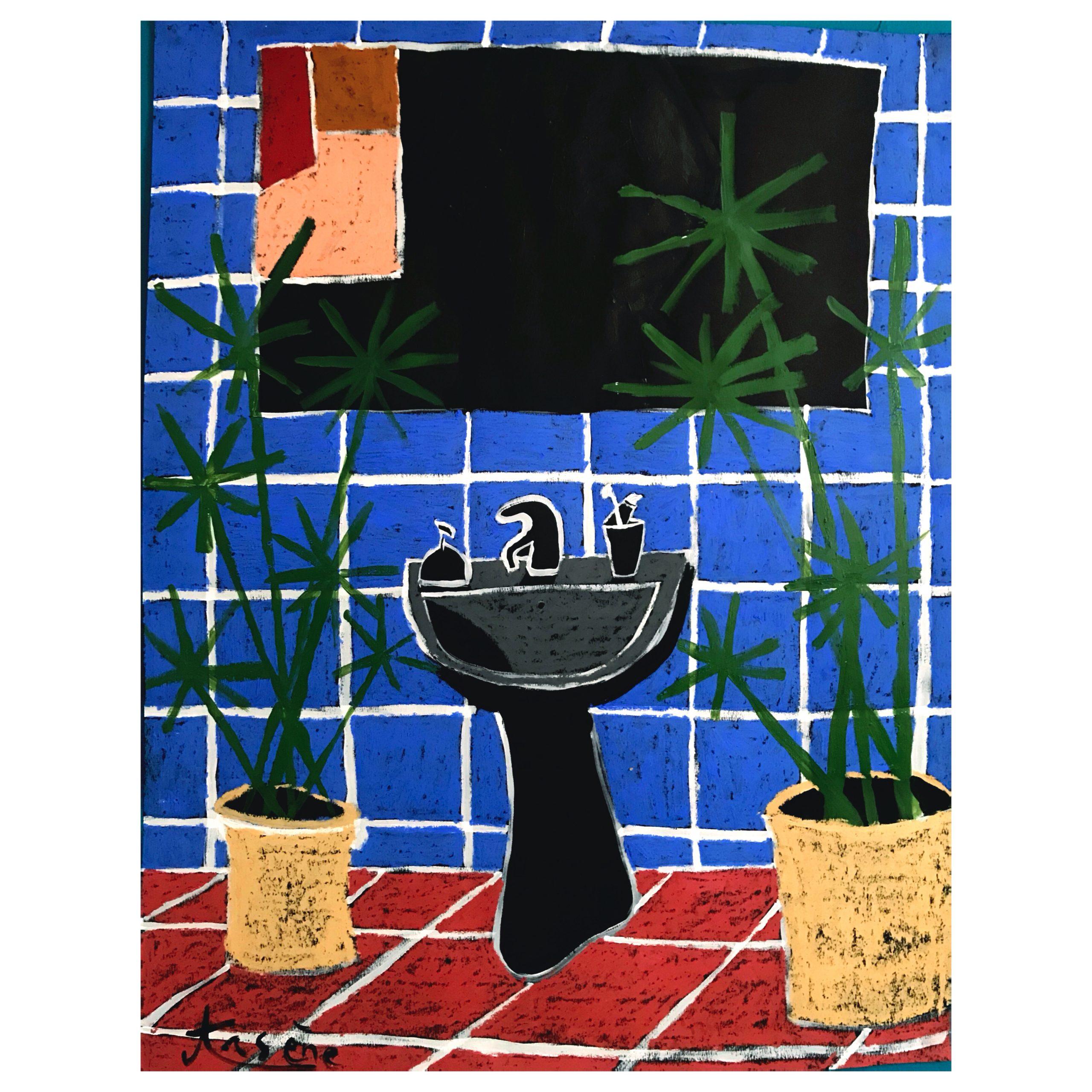 """""""Salle de bain aux Papyrus"""""""
